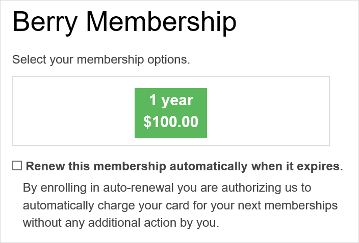 Enable Auto-Renewal for Membership Forms