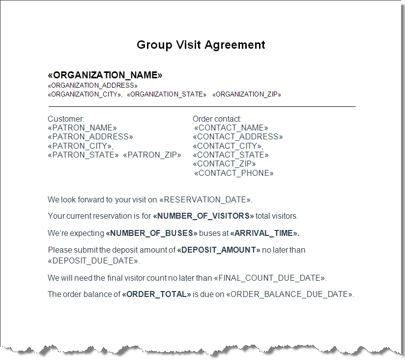 group sales basic contract
