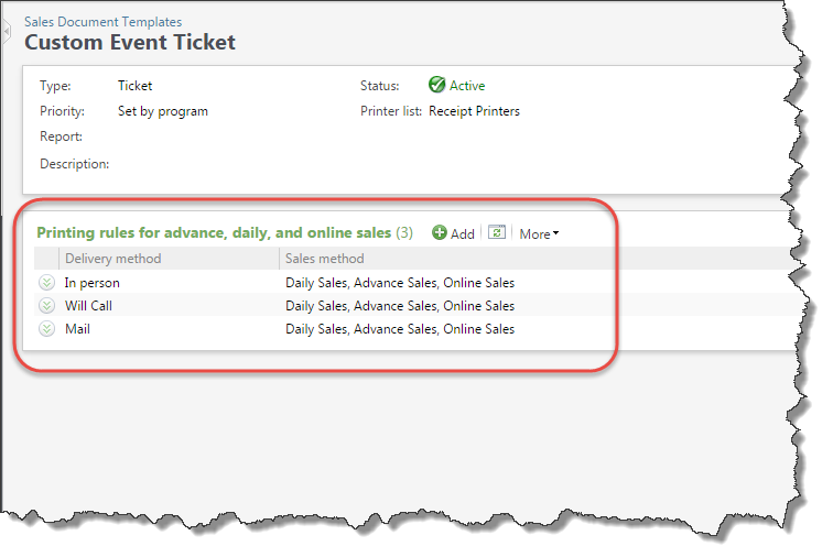 Customize Ticket Document Templates – Delivery Ticket Template