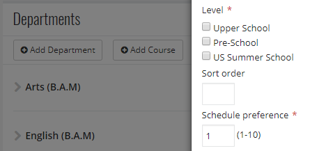 scheduling preference refers to the emphasis given to each departments assignment to certain rooms and buildings over one another departments with a lower