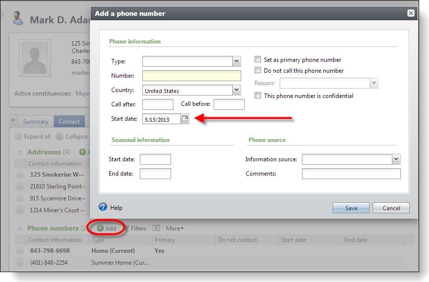 Blackbaud Adding An Add Form Default Value To An Action Within A Page