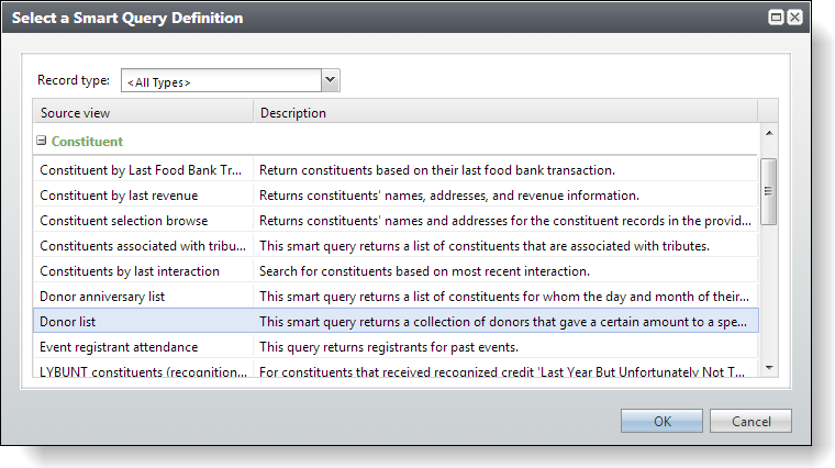 Exercise 3 Creating a Smart Query from the Donor List Smart Query