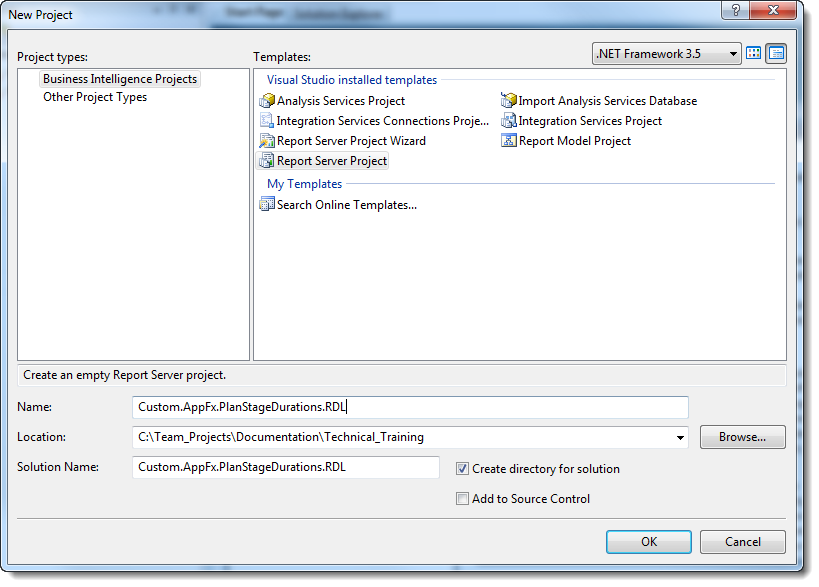 Create an RDL File for a Stage Transitions Report