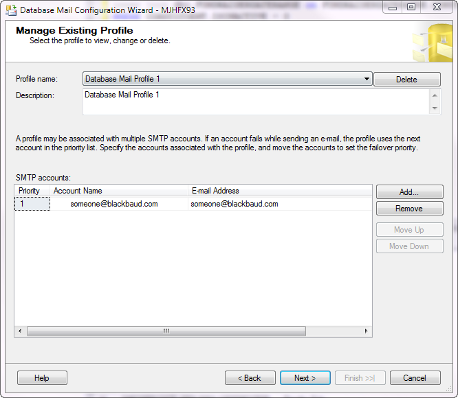 Setting up a Profile in Database Mail in Microsoft SQL Server